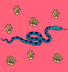 tropical snake vector image