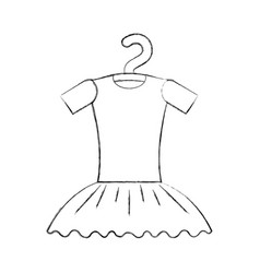Tutu ballet on the hanger costume vector