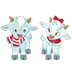 Two little goat Symbol 2015 year vector image