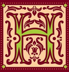 vintage letter H vector image vector image
