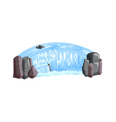Waterfall cascade isometric view vector