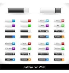web buttons pack vector image vector image
