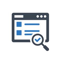 web content search icon vector image