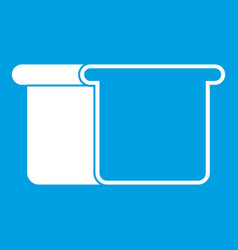 White bread icon white vector