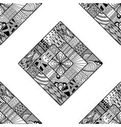 Zentangle seamless pattern doodle mandala vector image