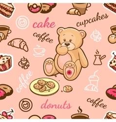 coffee shop pattern vector image vector image