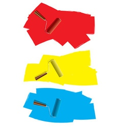 Roller paint concept vector image