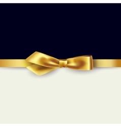 Shiny gold satin ribbon vector image vector image