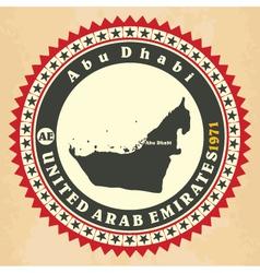 Vintage label-sticker cards of United Arab Emirate vector image vector image