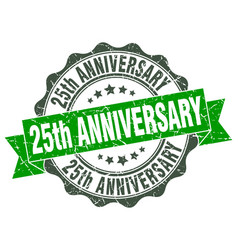 25th anniversary stamp sign seal vector image vector image