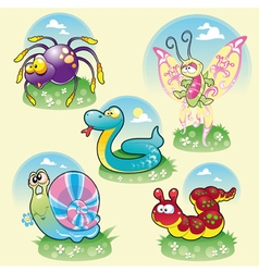 Family of funny animals vector image
