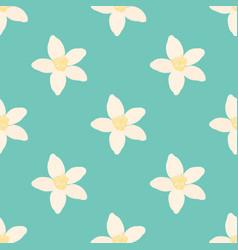 neroli flower seamless pattern oil plant vector image vector image