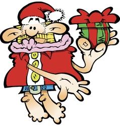 Silly Santa Claus vector image