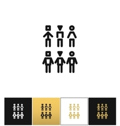 Society team community icon vector image