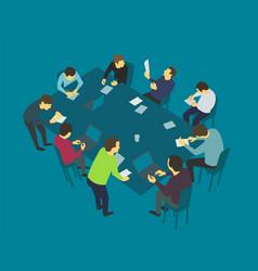 table talks team business people meeting vector image