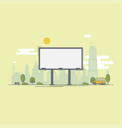 a large empty city billboard for your advertising vector image