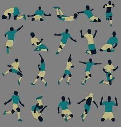 Goal Celebration Silhouette vector image