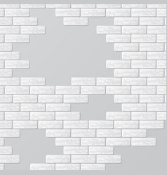 Gray brick wall with text places vector