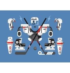 Hockey equipment set vector image