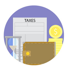 tax day icon vector image vector image