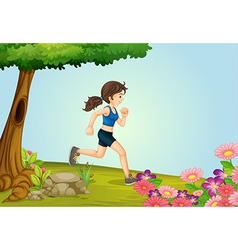 A girl running vector image vector image