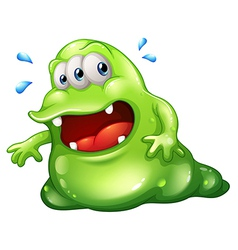 A greenslime monster escaping vector image