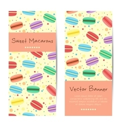 banners cards with sweet macarons vector image vector image