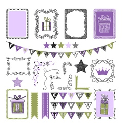Design Elements for holiday party congratulation vector image vector image