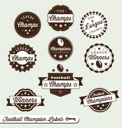 Football Champs Labels vector image vector image