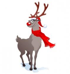 happy reindeer vector image