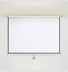 meeting projector screen empty white board vector image vector image