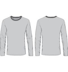 Mens shirts template Front and back views vector image vector image
