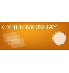 Paper Shopping Bags on Cyber Monday Sale Banner vector image