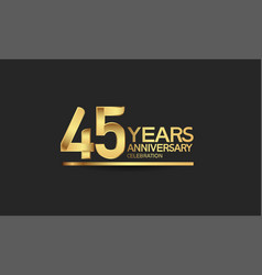 45 years anniversary celebration with elegant vector