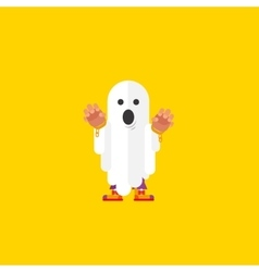 a ghost character for halloween in vector image