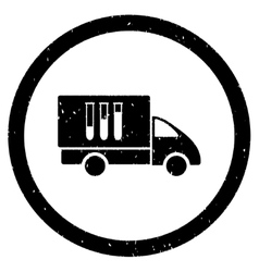 Analysis Delivery Rounded Grainy Icon vector image