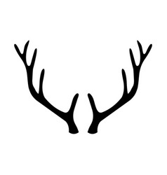 animal horn icon vector image