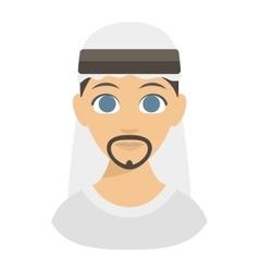 Arabic man face vector image