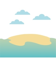 Beach landscape background icon vector