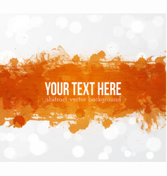 Big bright orange grunge splash on white glowing vector