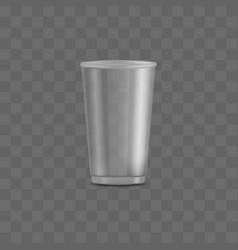 Blank transparent disposable realistic 3d plastic vector
