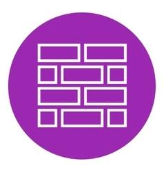 Brickwall line icon vector