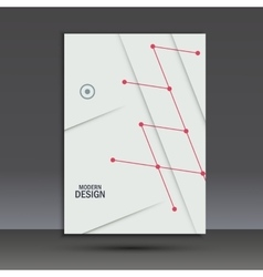 Brochure design layout template in a4 vector