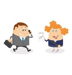 Businessman and Secretary vector image