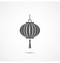 chinese lantern icon vector image
