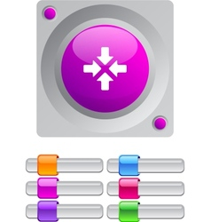 Click here color round button vector