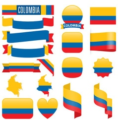 Colombia flags vector image