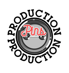 color vintage pins production emblem vector image