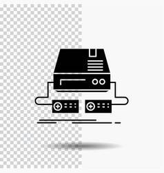 console game gaming pad drive glyph icon on vector image