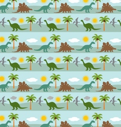 Dinosaur stripe vector
